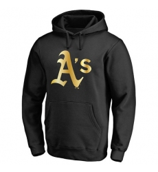 MLB Oakland Athletics Gold Collection Pullover Hoodie - Black