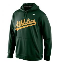 MLB Oakland Athletics Nike Men's KO Wordmark Perfomance Hoodie - Green
