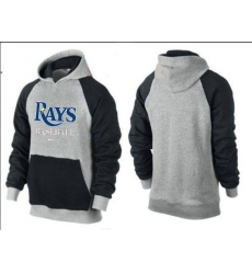 MLB Men's Nike Tampa Bay Rays Pullover Hoodie - Grey/Black