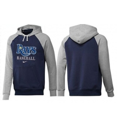 MLB Men's Nike Tampa Bay Rays Pullover Hoodie - Navy/Grey