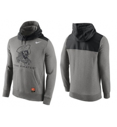MLB Men's Pittsburgh Pirates Nike Gray Cooperstown Collection Hybrid Pullover Hoodie