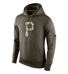 MLB Men's Pittsburgh Pirates Nike Olive Salute To Service KO Performance Hoodie