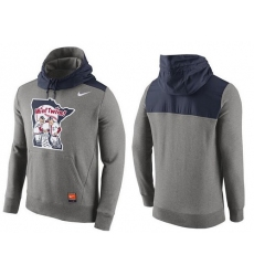 MLB Men's Minnesota Twins Nike Gray Cooperstown Collection Hybrid Pullover Hoodie