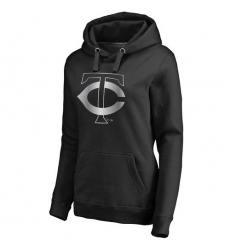 MLB Minnesota Twins Women's Platinum Collection Pullover Hoodie - Black