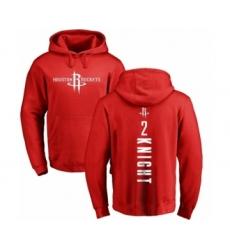 NBA Nike Houston Rockets #2 Brandon Knight Red Backer Pullover Hoodie