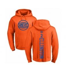 Basketball New York Knicks #2 Wayne Ellington Orange One Color Backer Pullover Hoodie