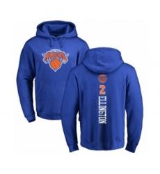 Basketball New York Knicks #2 Wayne Ellington Royal Blue Backer Pullover Hoodie