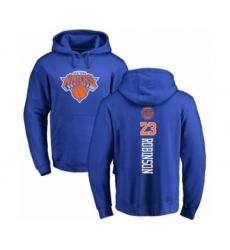 Basketball New York Knicks #23 Mitchell Robinson Royal Blue Backer Pullover Hoodie
