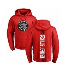 Basketball Toronto Raptors #20 Rondae Hollis-Jefferson Red Backer Pullover Hoodie