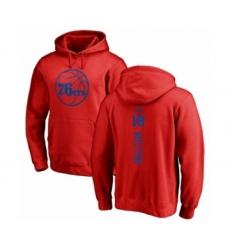 Basketball Philadelphia 76ers #18 Shake Milton Red One Color Backer Pullover Hoodie