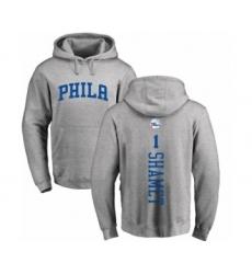 NBA Nike Philadelphia 76ers #1 Landry Shamet Ash Backer Pullover Hoodie