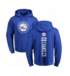 NBA Nike Philadelphia 76ers #22 Wilson Chandler Royal Blue Backer Pullover Hoodie