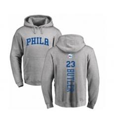 NBA Nike Philadelphia 76ers #23 Jimmy Butler Ash Backer Pullover Hoodie