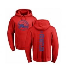 NBA Nike Philadelphia 76ers #23 Jimmy Butler Red One Color Backer Pullover Hoodie