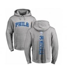NBA Nike Philadelphia 76ers #31 Mike Muscala Ash Backer Pullover Hoodie