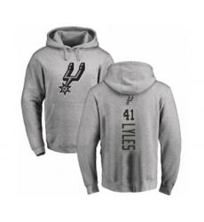 Basketball San Antonio Spurs #41 Trey Lyles Ash Backer Pullover Hoodie