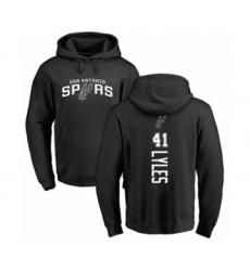 Basketball San Antonio Spurs #41 Trey Lyles Black Backer Pullover Hoodie
