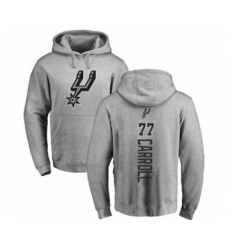 Basketball San Antonio Spurs #77 DeMarre Carroll Ash Backer Pullover Hoodie