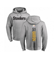 Pittsburgh Steelers #51 Mark Barron Ash Backer Pullover Hoodie