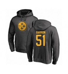 Pittsburgh Steelers #51 Mark Barron Ash One Color Pullover Hoodie