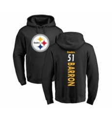 Pittsburgh Steelers #51 Mark Barron Black Backer Pullover Hoodie