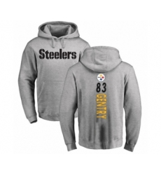 Pittsburgh Steelers #83 Zach Gentry Ash Backer Pullover Hoodie