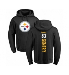 Pittsburgh Steelers #83 Zach Gentry Black Backer Pullover Hoodie