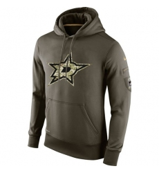 NHL Men's Dallas Stars Nike Olive Salute To Service KO Performance Hoodie