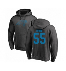 Football Carolina Panthers #55 Bruce Irvin Ash One Color Pullover Hoodie