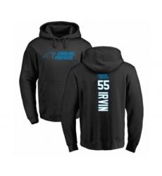 Football Carolina Panthers #55 Bruce Irvin Black Backer Pullover Hoodie