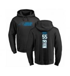 Football Carolina Panthers #55 Bruce Irvin Black Backer Pullover Hoodie