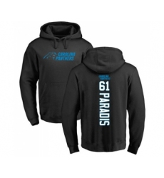 Football Carolina Panthers #61 Matt Paradis Black Backer Pullover Hoodie