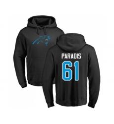 Football Carolina Panthers #61 Matt Paradis Black Name & Number Logo Pullover Hoodie