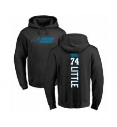 Football Carolina Panthers #74 Greg Little Black Backer Pullover Hoodie