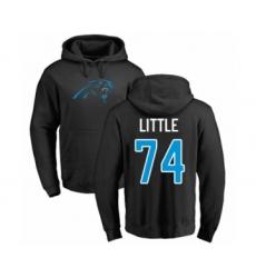 Football Carolina Panthers #74 Greg Little Black Name & Number Logo Pullover Hoodie