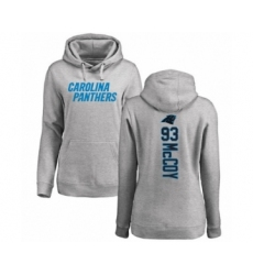 Football Women's Carolina Panthers #93 Gerald McCoy Ash Backer Pullover Hoodie