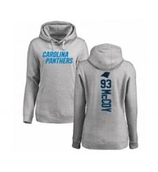 Football Women's Carolina Panthers #93 Gerald McCoy Ash Backer Pullover Hoodie