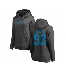 Football Women's Carolina Panthers #93 Gerald McCoy Ash One Color Pullover Hoodie