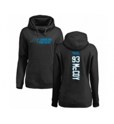 Football Women's Carolina Panthers #93 Gerald McCoy Black Backer Pullover Hoodie