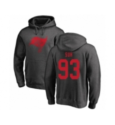 Football Tampa Bay Buccaneers #93 Ndamukong Suh Ash One Color Pullover Hoodie