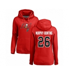 Football Women's Tampa Bay Buccaneers #26 Sean Murphy-Bunting Red Name & Number Logo Pullover Hoodie