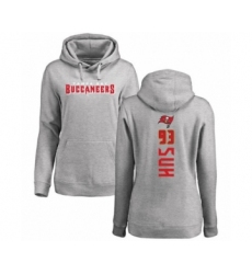 Football Women's Tampa Bay Buccaneers #93 Ndamukong Suh Ash Backer Pullover Hoodie