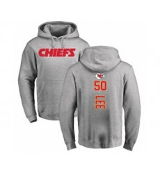 Football Kansas City Chiefs #50 Darron Lee Ash Backer Pullover Hoodie