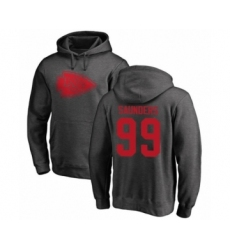 Football Kansas City Chiefs #99 Khalen Saunders Ash One Color Pullover Hoodie
