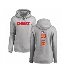 Football Women's Kansas City Chiefs #50 Darron Lee Ash Backer Pullover Hoodie