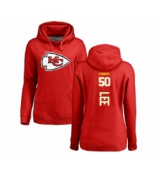 Football Women's Kansas City Chiefs #50 Darron Lee Red Backer Pullover Hoodie