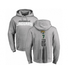 Football Jacksonville Jaguars #7 Nick Foles Ash Backer Pullover Hoodie
