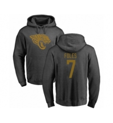 Football Jacksonville Jaguars #7 Nick Foles Ash One Color Pullover Hoodie