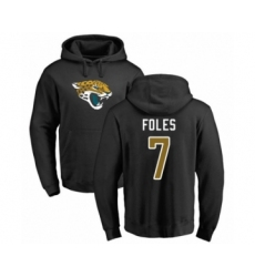 Football Jacksonville Jaguars #7 Nick Foles Black Name & Number Logo Pullover Hoodie