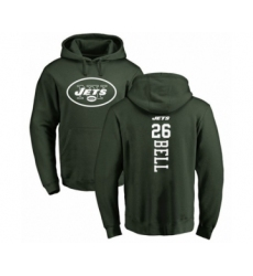 Football New York Jets #26 Le'Veon Bell Green Backer Pullover Hoodie